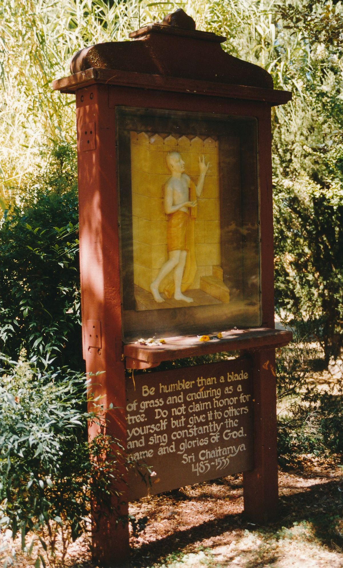 13 - Vedanta Society of Sacramento - Garden of Saints - Sri Chaitanya-3