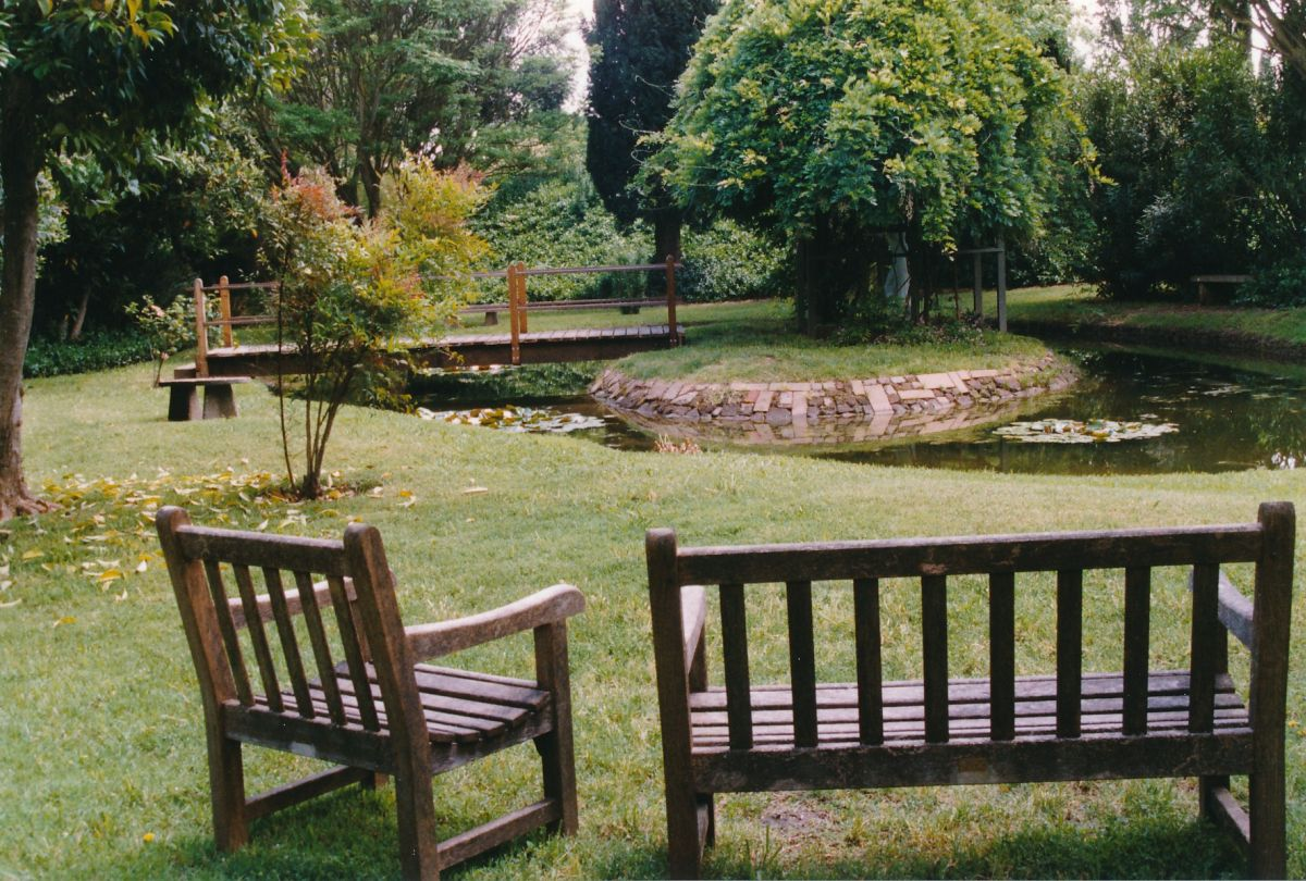 3 - Vedanta Society of Sacramento - Garden of Saints - Bench for Quiet Contemplation