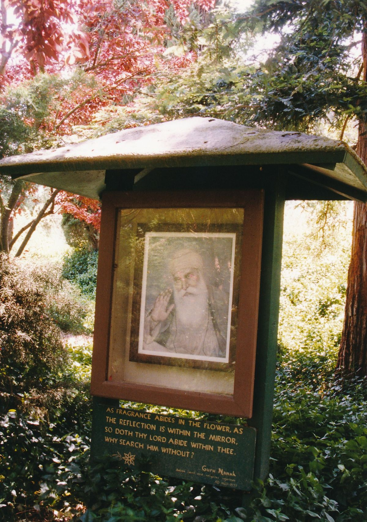 7 - Vedanta Society of Sacramento - Garden of Saints - Guru Nanak 1