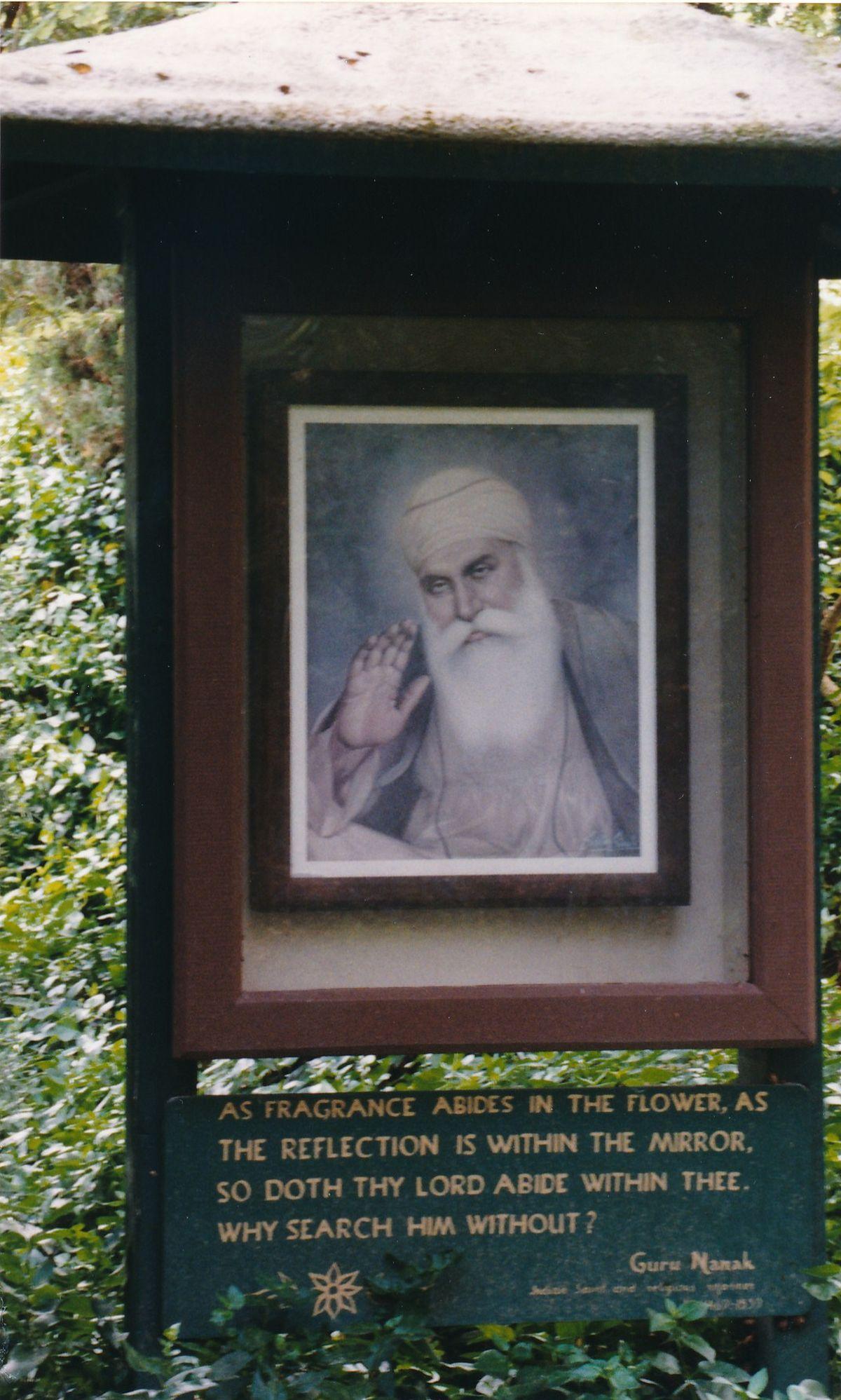 7 - Vedanta Society of Sacramento - Garden of Saints - Guru Nanak 2