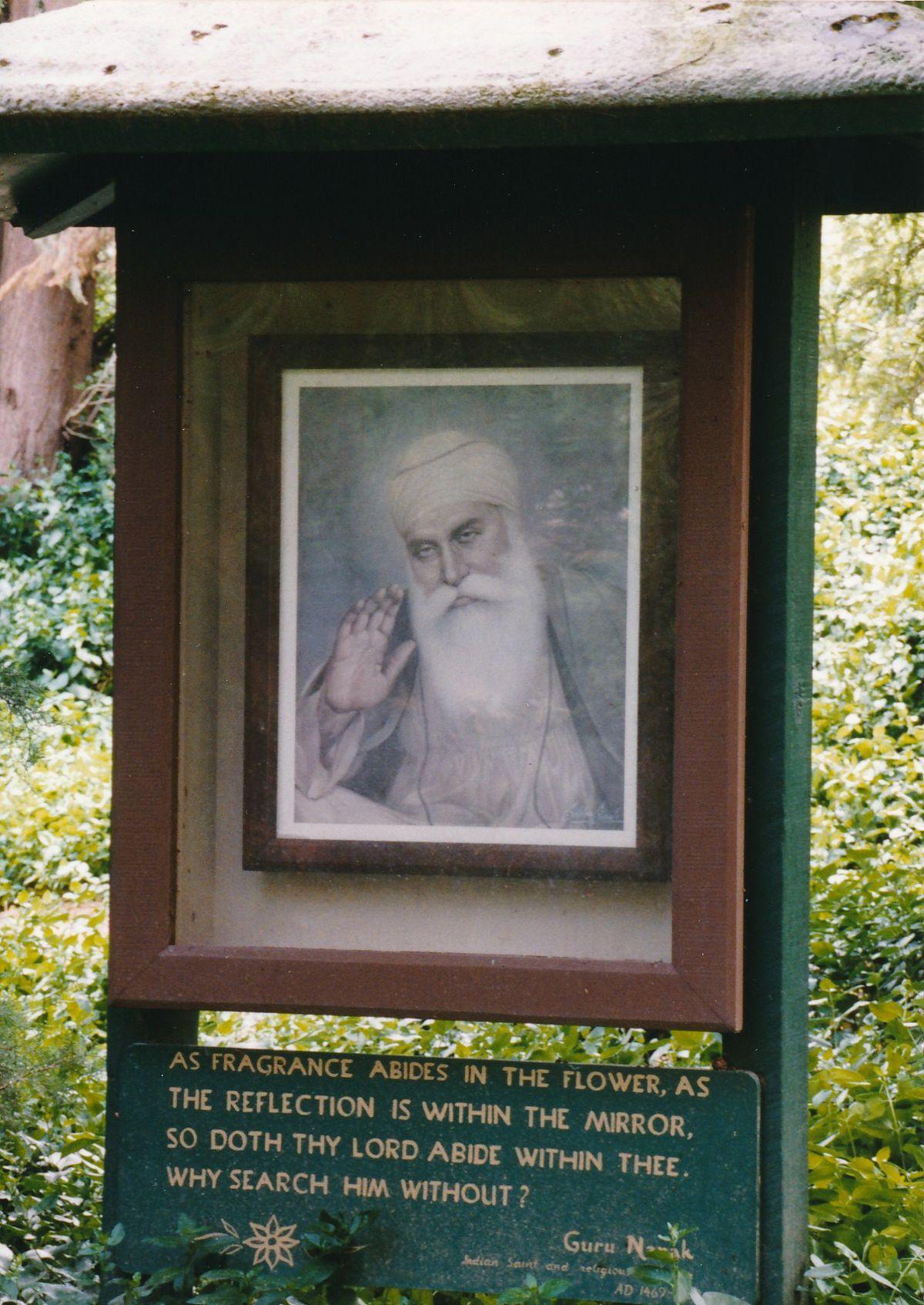 7 - Vedanta Society of Sacramento - Garden of Saints - Guru Nanak 3