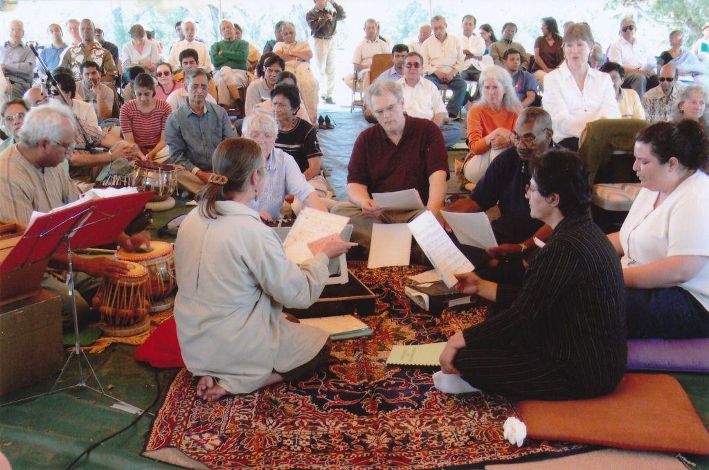 2007 Shanti Ashrama - Sacramento Choir Singing in Shanti Ashrama