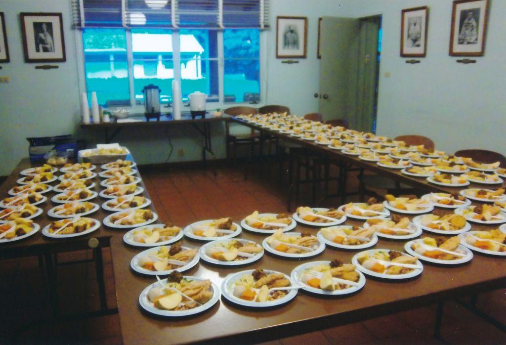 Arrangements of prasad after a celebration in Sacramento