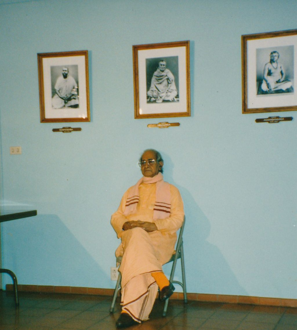Sw. Hiranmayananda in the Assembly Room