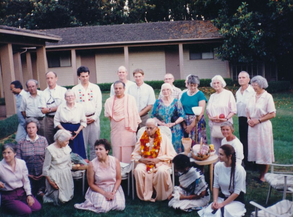 Swami Shraddhananda's Birthday with Swami Prapannananda and other devotees