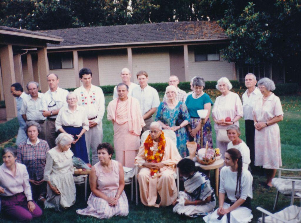 Swami Shraddhananda's Birthday with Swami Prapannananda and other devotees