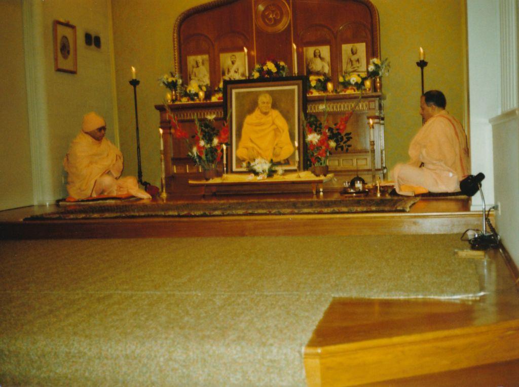 Swami Sivanandaji Maharaj's Birthday.Swami Shraddhananda(L) ,Swami Prapannananda(R).