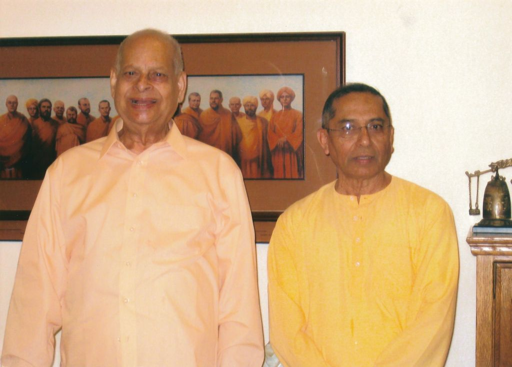 Swami Swahananda and Swami Sarvadevananda in Hollywood Dining Hall