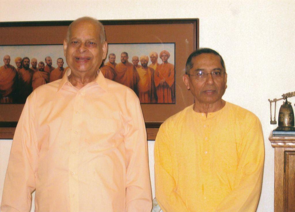 Swami Swahananda and Swami Sarvadevananda in Hollywood Dining Hall